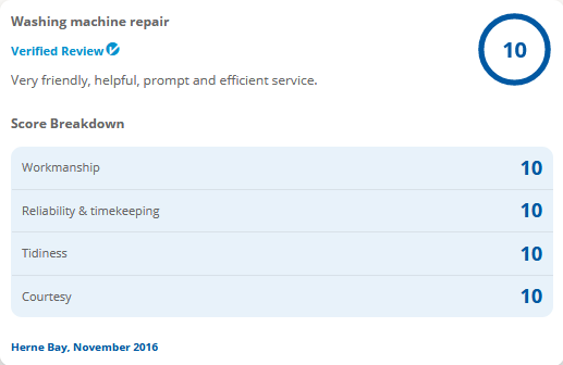 Kent Appliance Repairs Reviews